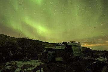 Poollicht boven IJsland