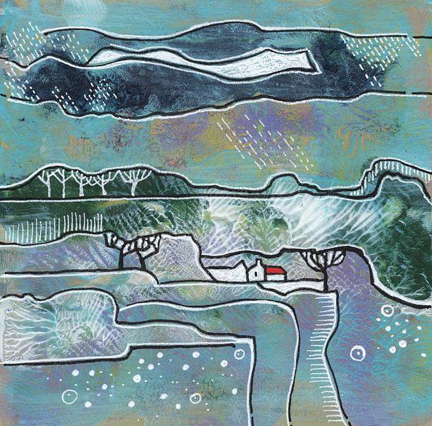 Saisonale Landschaft - Winter von Ariadna de Raadt-Goldberg