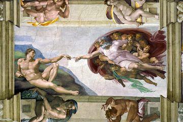 Michelangelo. Sixtijnse Kapel, Schepping van Adam van