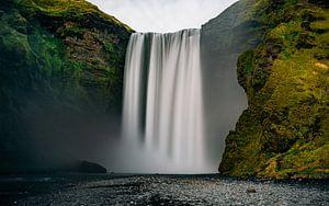 Skógafoss Waterval van Maikel Claassen Fotografie