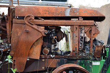 Vieux tracteur sur Susanne Seidel