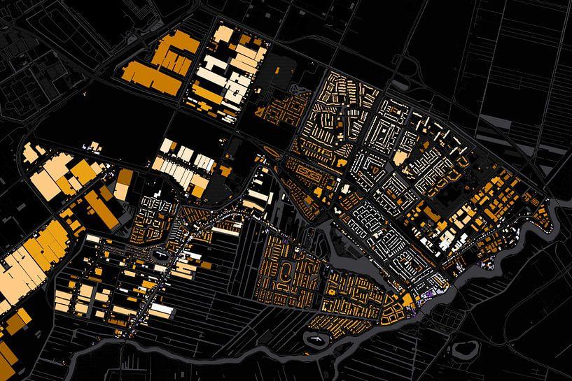 Kaart van Uithoorn abstract van Stef Verdonk