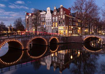 Hoek Keizersgracht/Leidsegracht Amsterdam