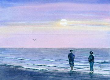 Abends am Meer sur Jitka Krause