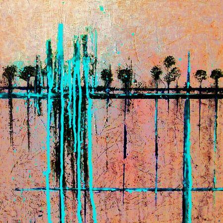 Rijtje paal bomen. van Alies werk