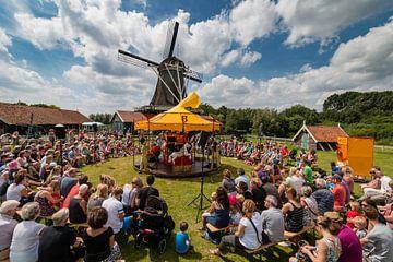 Bolwerksmolen bij Deventer tijdens een evenement