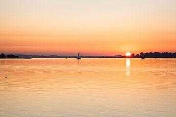 Sonnenuntergang am Veere-See von Rob Boon