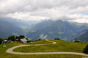 Haarspeldbocht in Oostenrijk van CreaBrig Fotografie