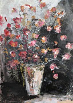 Fleurs dans un vase sur Christin Lamade