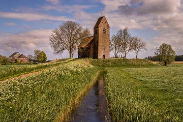 Het kerkje in Marsum van Marga Vroom