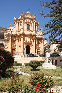 Barokke kerk van San Domenico, Noto, UNESO werelderfgoed, Vale di Noto, provincie Syracuse, Sicilië, van Torsten Krüger