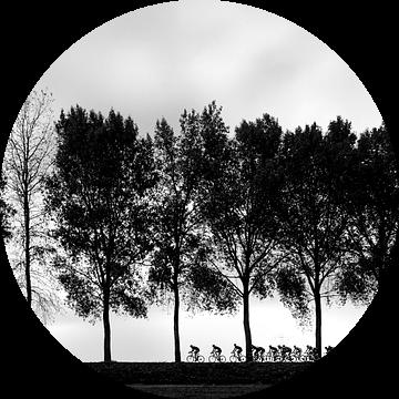Cycling silhouettes van Leon van Bon