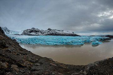 Svinafelljokull le glacier en diminution sur Gerry van Roosmalen