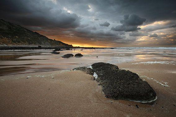 Normandisch strand van Mark Leeman