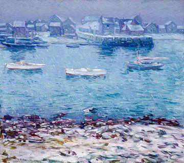 Charles S. Kaelin~Winter im Hafen