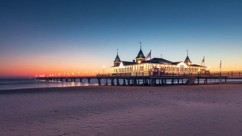 Oldest Pier Usedom (Ahlbeck / Baltic Sea) van Dirk Wiemer