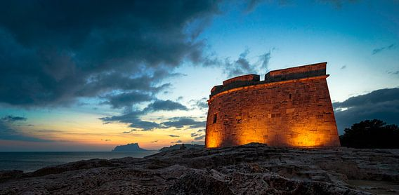 Castell Moraira Spanje von Peter Bolman