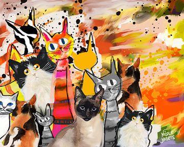 Katzengemälde von Nicole Habets