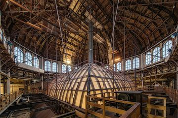 Holzinterieur der Kuppel des Kurhauses auf Scheveningen von gaps photography