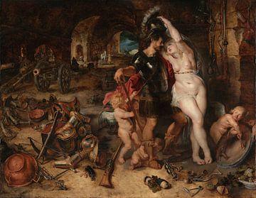 De terugkeer uit de oorlog: Mars Ontwapend door Venus, Peter Paul Rubens