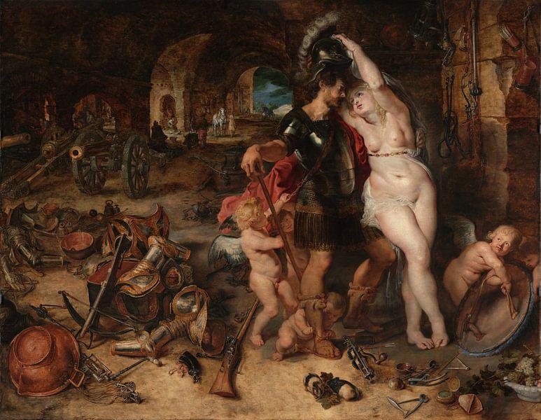 The Return from War: Mars Disarmed by Venus, Peter Paul Rubens von Meesterlijcke Meesters