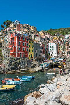 Riomaggiore, Cinque Terre, Italien von Richard van der Woude