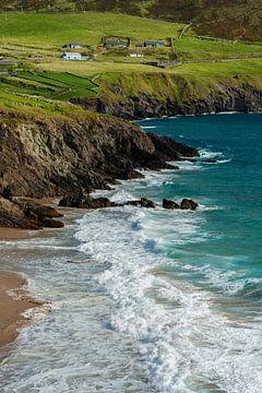 Ierland - schiereiland Dingle - sappig groen & helder blauw van Meleah Fotografie