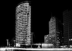 Potsdamer Platz Berlijn bij nacht van Frank Andree