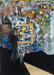 Collage Blick durch das Fenster