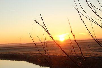 Prachtige zonsopkomst von Janno blok