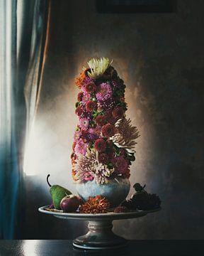 Blumenstillleben von Chrysanthemen von Marion Lemmen