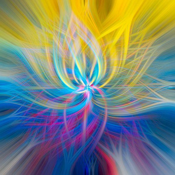 abstract vierkant 6 van Leo Luijten