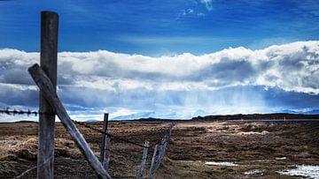Blauwe regen van Jan Krijbolder