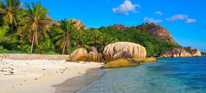 Anse source d'argent, La Dique - Seychelles von Van Oostrum Photography