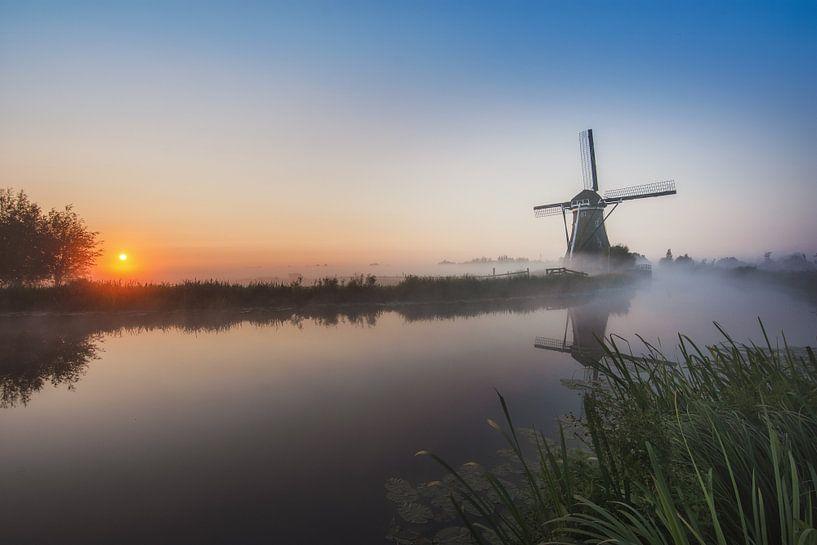 Hollandse morgen van Wim van de Water
