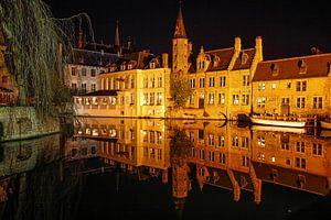 Brugge bij nacht van