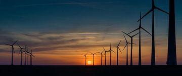 Parc éolien près de l'Eemshaven sur Annie Jakobs