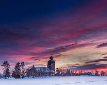 Eine Kirche im Sonnenuntergang gefangen. von Hamperium Photography