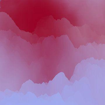 Berge unter dem rosa Nebel von Angel Estevez
