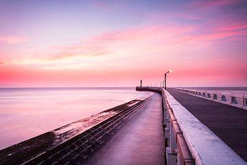 Gekleurde zonsondergang van Kris Christiaens