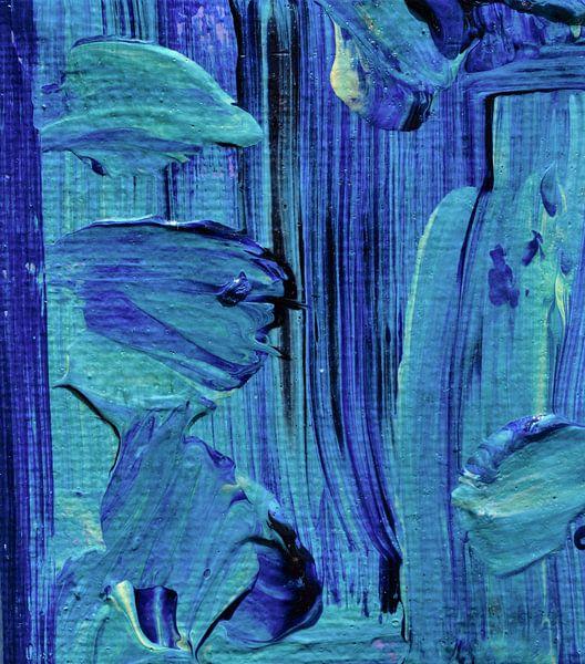 Kunstminiatuur blauw van Angelique van 't Riet