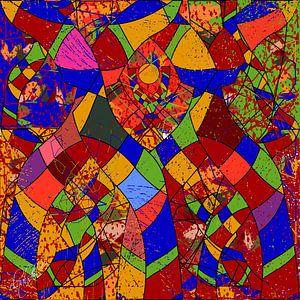 Chemin abstrait géométrique sur EL QOCH