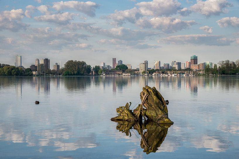 Kralingse plas met Rotterdam van Prachtig Rotterdam