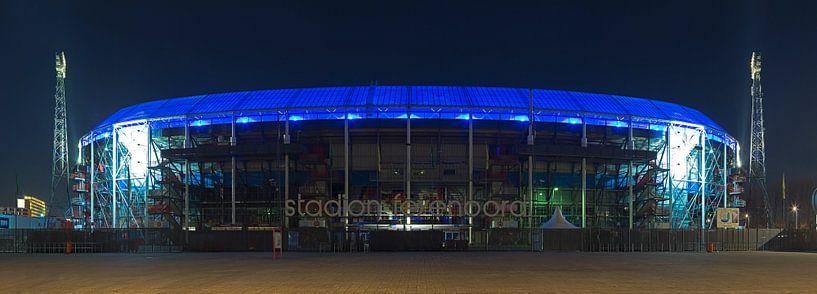 De Kuip panorama met blauw dak van Anton de Zeeuw