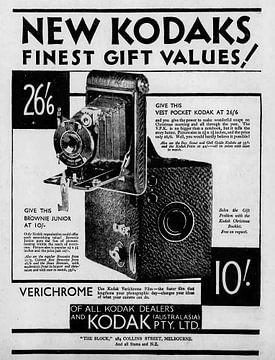 Fotokamera Anzeige aus Kodak 1931 von Atelier Liesjes