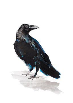 Jackdaw spezielle Vogelillustration von Angela Peters
