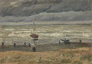 Zeegezicht bij Scheveningen, Vincent van Gogh