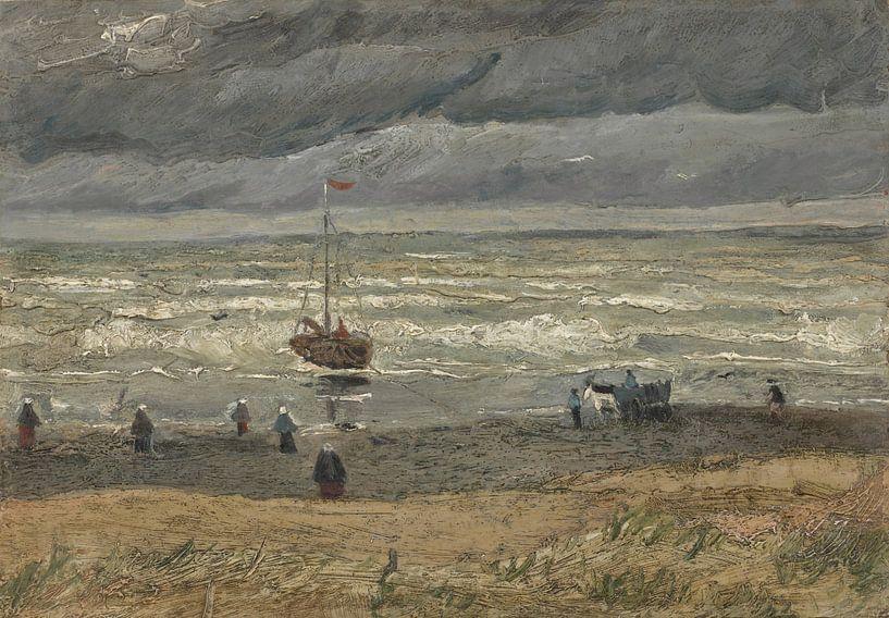 Zeegezicht bij Scheveningen, Vincent van Gogh van Meesterlijcke Meesters