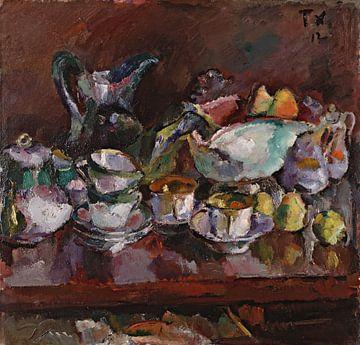 Anton Faistauer~Stillleben mit Kaffeetassen