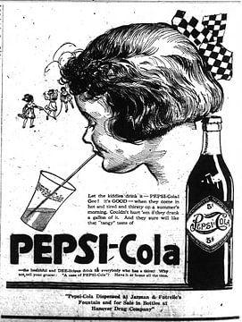 Publicité Pepsi Cola 1922 sur Natasja Tollenaar